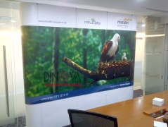 Backdrop Portable display modul 3x3