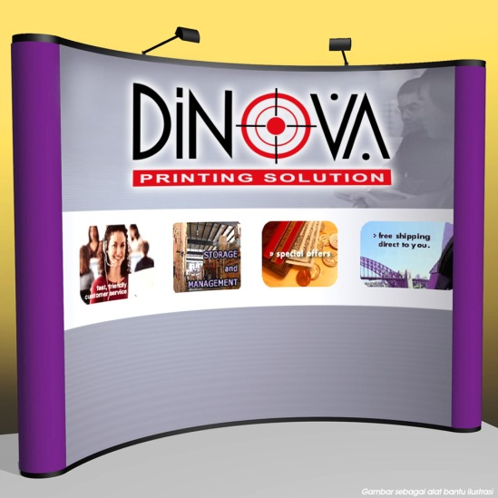 Backdrop Display Portable, Backwall, Pop up stand