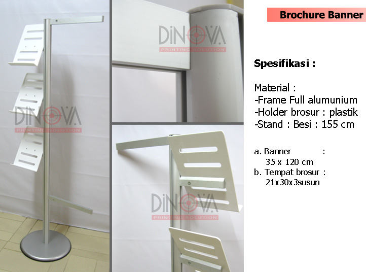 Download Display brosur banner with standing