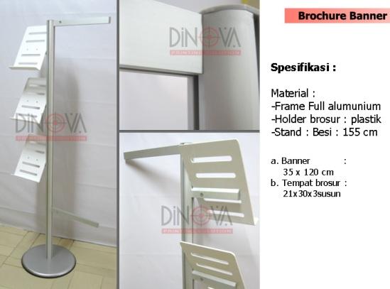 Display brosur banner stand