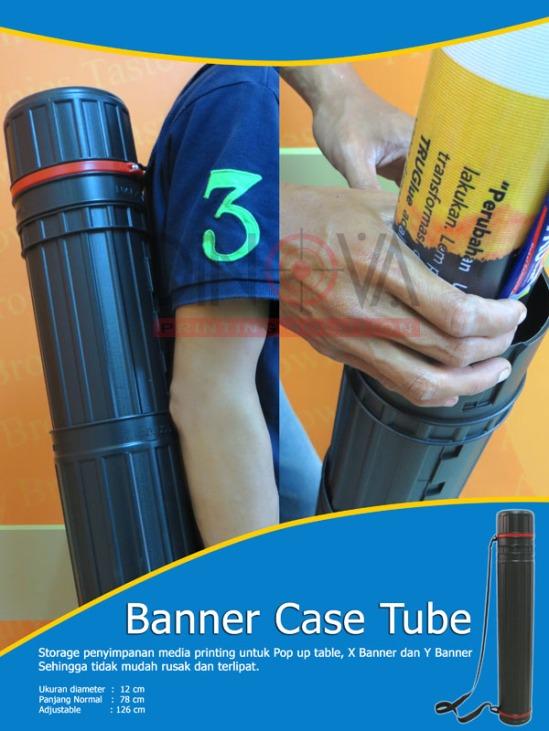 Banner Case Tube digunakan tempat penyimpanan media printing Pop up table, X Banner, Y Banner serta Spanduk,