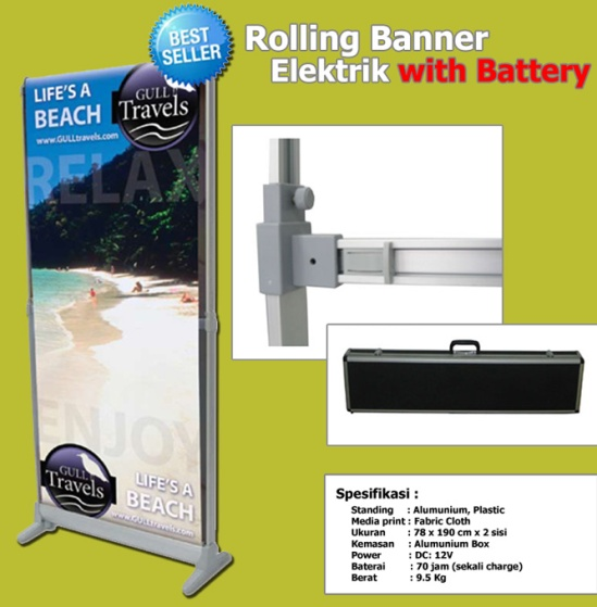 Roll up Banner Elektrik_Electric Rolling up Banner