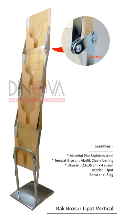 Rak Brosur Lipat Vertical Stainless Steel Jakarta